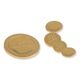 Cioccolatini monete personalizzabili