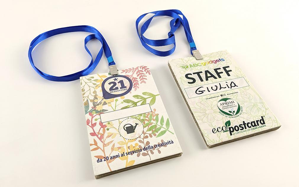 badge ecologici fiere eventi