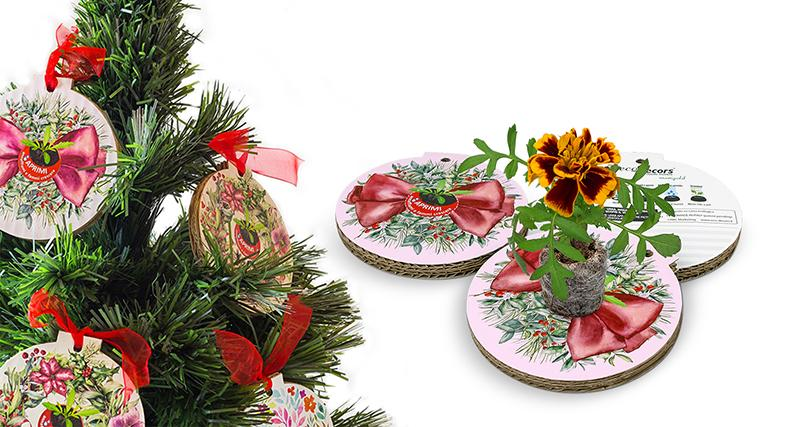 eco-decors pallina natalizia ecologica personalizzata