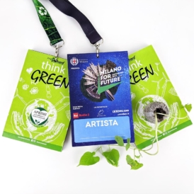 Badge pass ecologico con semi personalizzato