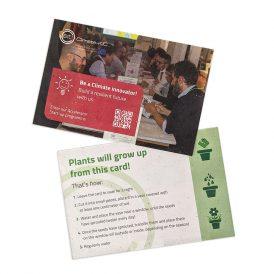 Eco-card flyer piantabile con semi personalizzabile