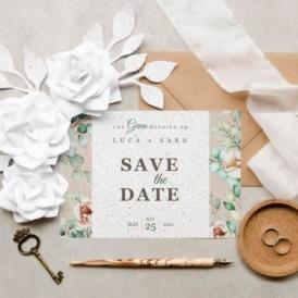 Eco-Card partecipazioni nozze, inviti e partecipazioni ecologiche piantabili personalizzate
