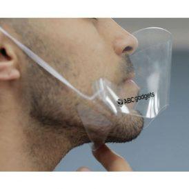 Mascherina trasparente protettiva naso/bocca personalizzabile