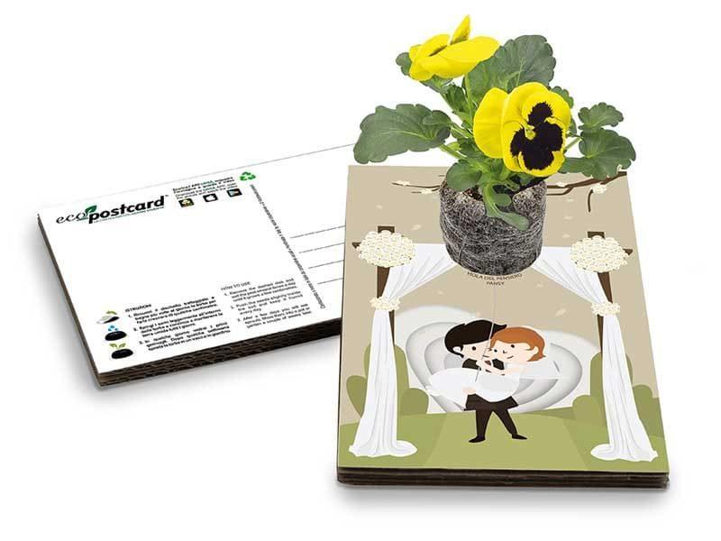 bomboniera ecologica con semi ecopostcard