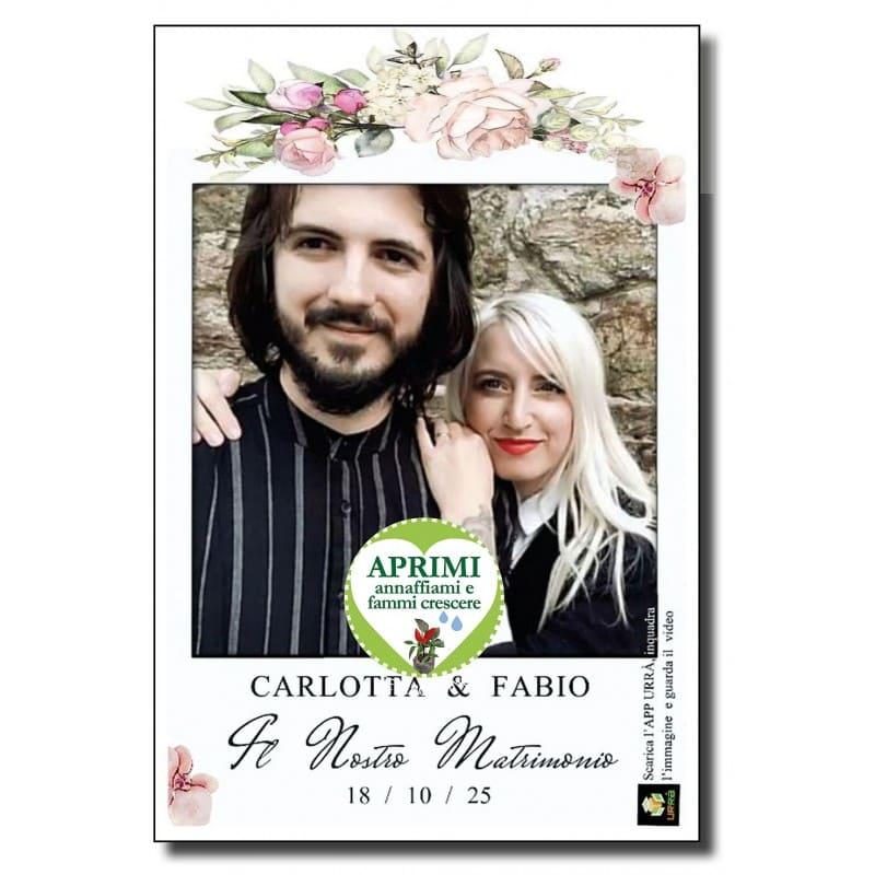 cartolina ecologica matrimonio personalizzata realta aumentata