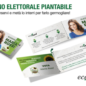 Eco-Card santino elettorale piantabile