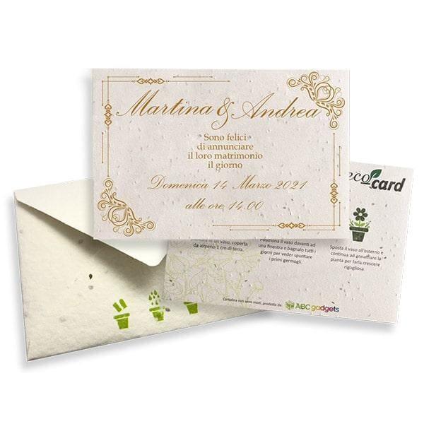 partecipazioni carta piantabile ecocard