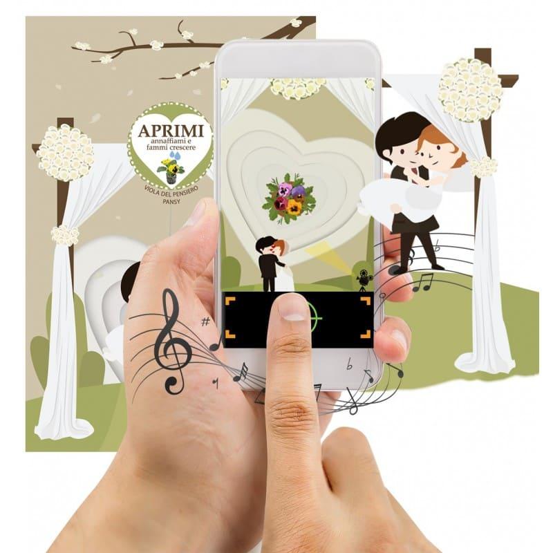 partecipazioni matrimonio ecologiche realta aumentata