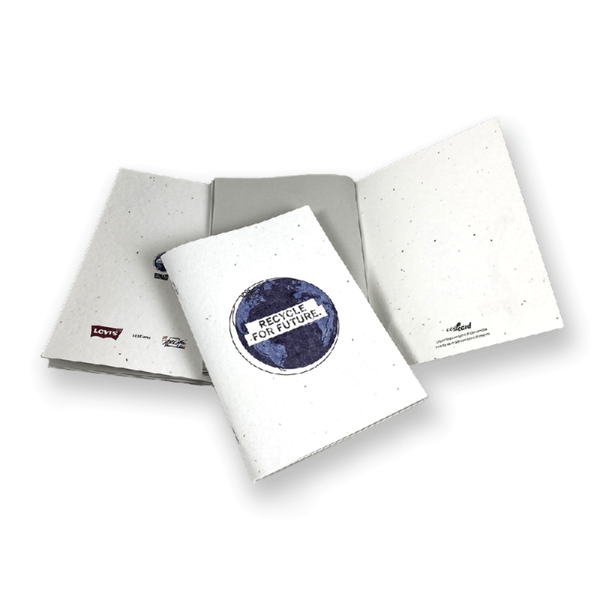 Quaderno ecologico in carta di semi personalizzabile