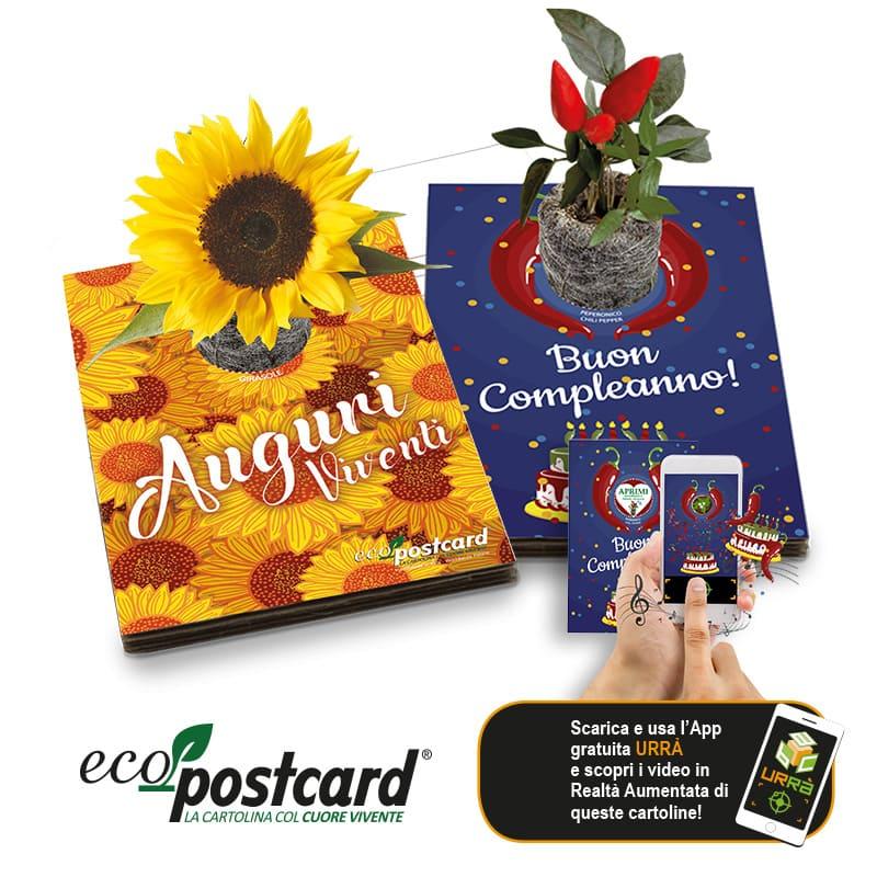 Eco-Postcard cartolina ecologica fiera Sana 2021